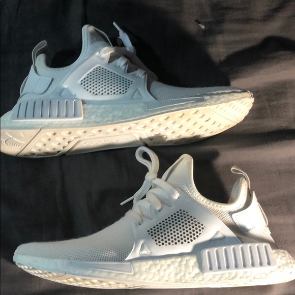 huge selection of c2490 ad869 Triple White NMD XR1's Size 9 and a half